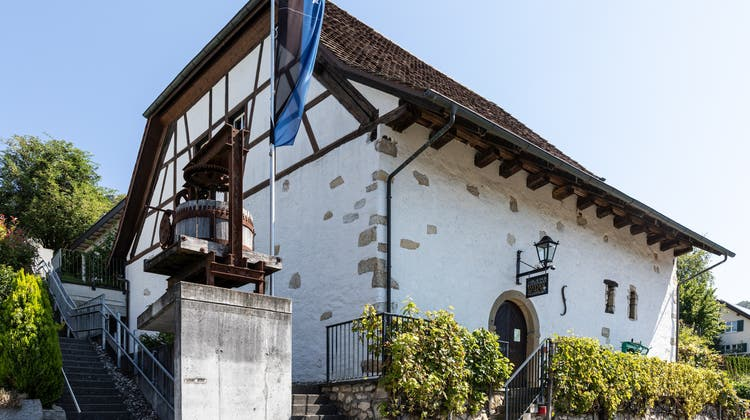 Das Aargauisch Kantonale Weinbaumuseum in Tegerfelden will sich mit neuem Logo und neuem Namen neu positionieren.(2. September 2021) (Valentin Hehli)