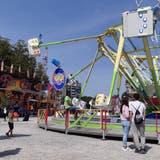 Chilbi auf dem Albisgüetli: Das traditionelle Knabenschiessen ist wegen Corona 2021 abgesagt, die Chilbi findet als Lunapark light statt. (Matthias Scharrer)