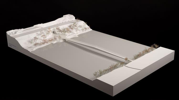 Das Modell zeigt das siegreiche Limmatsteg-Projekt. (zvg/BVU)
