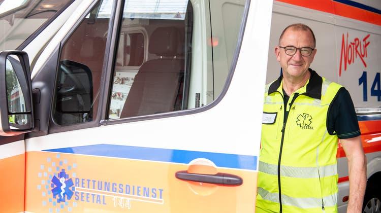 Günther Becker, scheidender Geschäftsführer desRettungsdiensts Seetal. (Bild: Nadia Schärli (Hochdorf, 17. August 2021))
