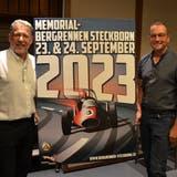 Präsentieren das neue Plakat: Claude Schönherr, Präsident des Vereins Freunde des Bergrennens Steckborn, und der neue OK-Chef Roger Forrer. (Bild: Margrith Pfister-Kübler)