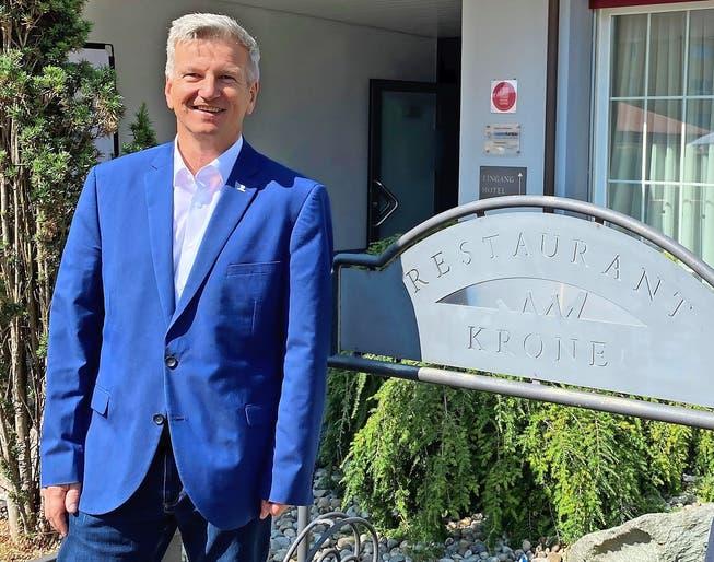 Bruno Lustenberger, Präsident von Gastro Aargau: «Es bringt nichts, jetzt die Faust im Sack zu machen und zu fluchen, wir müssen uns mit der Situation arrangieren und das Beste daraus machen.»