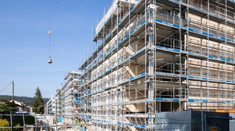So sieht die Baustelle im Lörler in Urdorf zurzeit aus. (Severin Bigler)