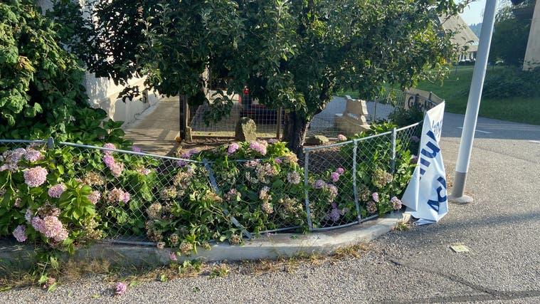 Der niedergedrückte Gartenzaun. (Kapo AG)