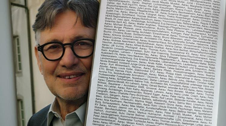 Der Wahlprospekt von Hanspeter Thür mit der Liste seiner Unterstützer. (Urs Helbling)
