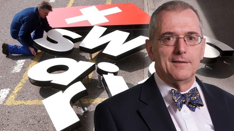 Karl Wüthrich(68) bezeichnet dieLiquidation der Swissair als sein Karriere-Highlight. (Bilder: KEY / NZZ, Montage: chm / cri)