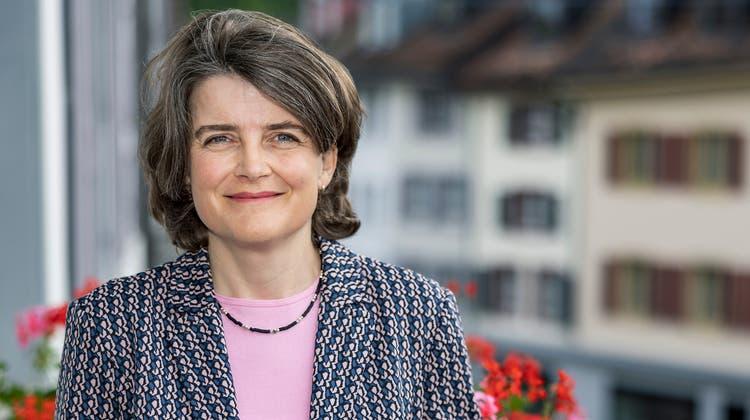 Anhand der Attacken der SVP im Landrat dürfte der SP-Regierungsrätin Kathrin Schweizer das Lachen ab und zu im Halse stecken bleiben. (Bild: Kenneth Nars)