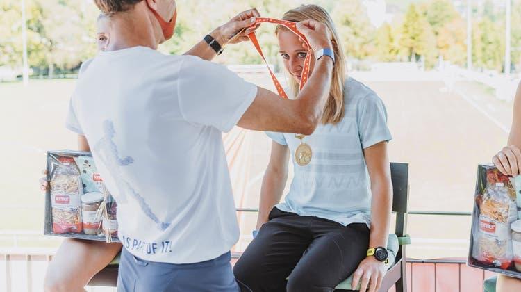 Fabienne Vonlanthen staunt selbst über ihren Aufstieg zur Halbmarathon-Schweizer-Meisterin. (Bild: Johanna Unternährer)