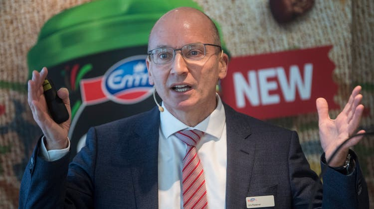 Bis Ende 2022 noch Konzernchef, ab 2023 Verwaltungsratspräsident: Emmi-Lenker Urs Riedener. (Urs Flueeler / KEYSTONE)