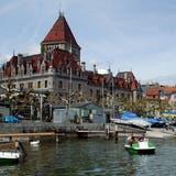Malerische Aussicht: Der Blick auf den Hafen von Lausanne im Stadtteil Ouchy am Genferseeufer. (Bild: Keystone)