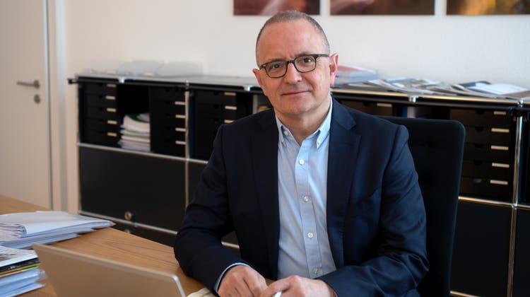 Zufrieden mit dem Budget 2022: Der Aarauer Stadtpräsident Hanspeter Hilfiker (56, FDP). (Zvg / Aargauer Zeitung)
